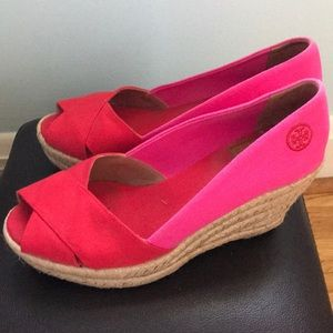 aec626a0a Tory Burch Shoes - Tory Burch Filipa Colorblock Espadrille Red-Pink